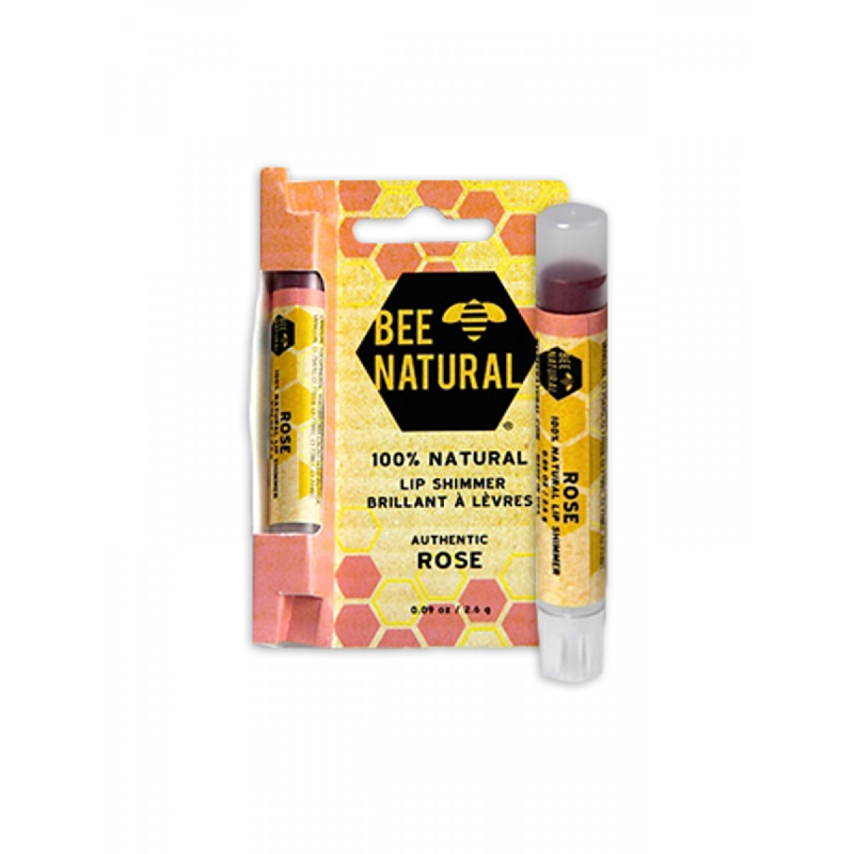 Bee Natural Lip Shimmer Rose