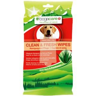 bogacare Clean & Fresh Wipes Hund 15 Stk.