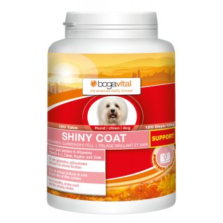bogavital Shiny Coat Support Hund 180 g /  120 Tabs