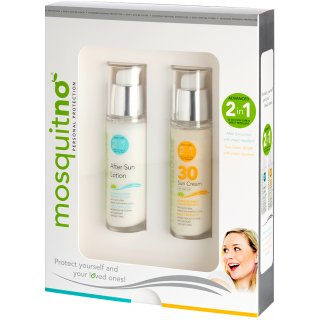 MosquitNo 2 in 1 Sonnen-Creme SPF 30 + After Sun Lotion 2 in 1  im Set - 2 x 50 ml
