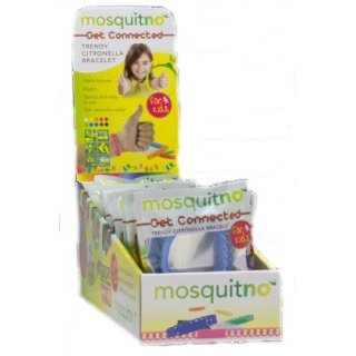 """HV-Display mit MosquitNo Kids Armband """"Get Connected"""" - 25 Stück"""