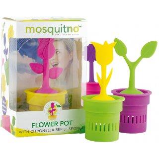 HV-Display mit MosquitNo Repellent Blumen-Topf - 12 Stück